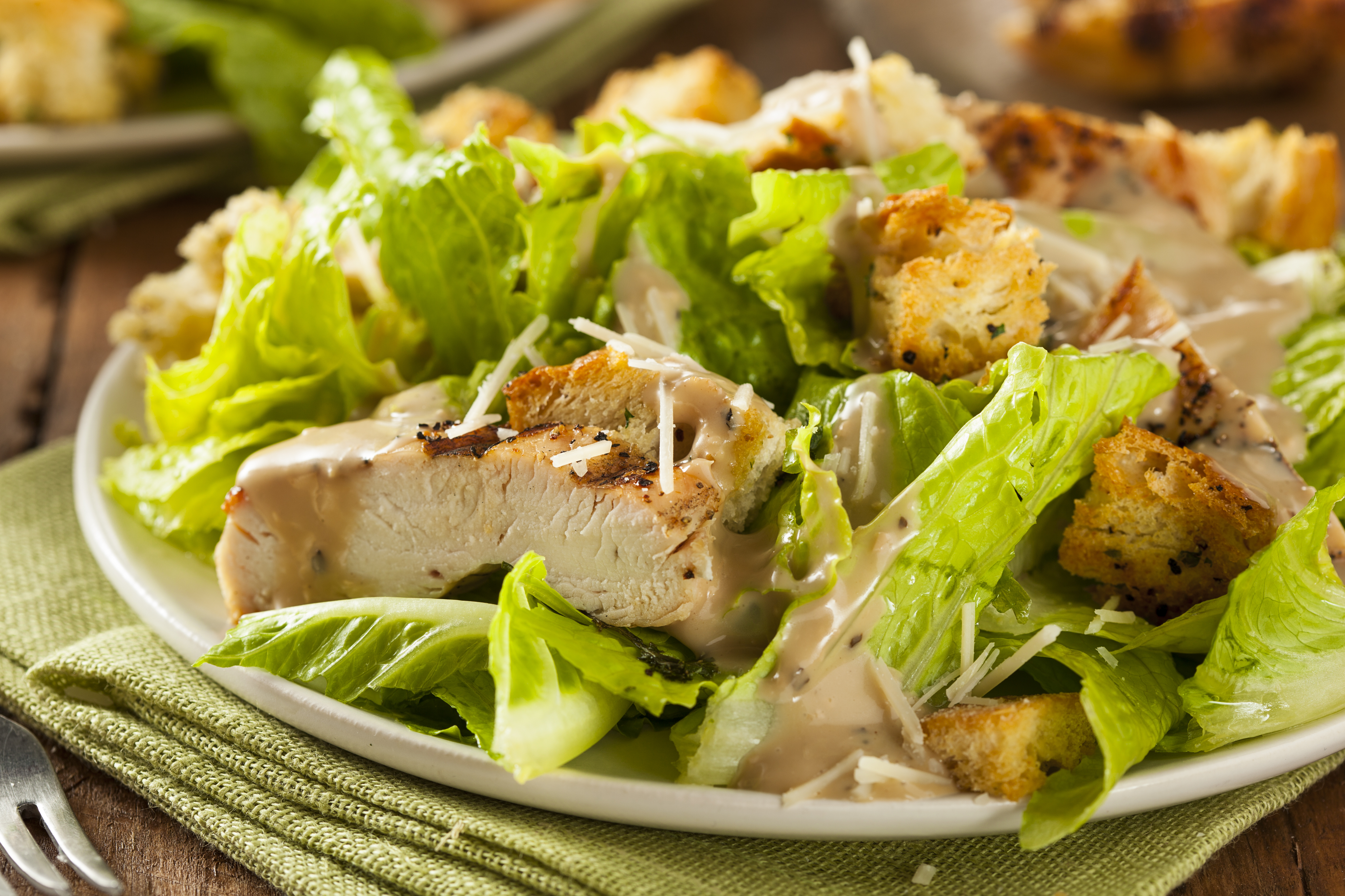 chicken caesar salad recipe with homemade croutons. Black Bedroom Furniture Sets. Home Design Ideas