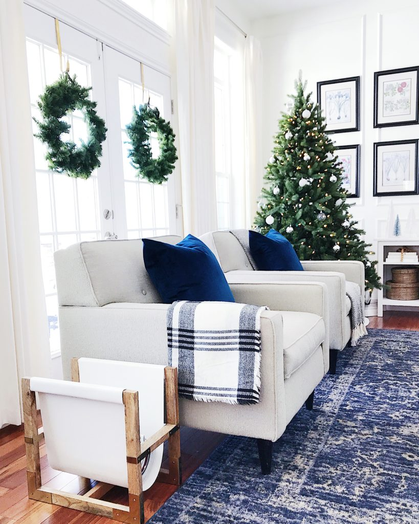 Easy Blue and White Christmas Decorating Ideas - jane at home