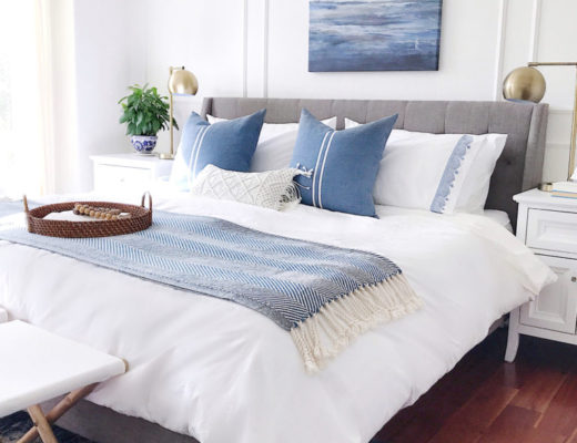 blue and white bedroom decor Archives - jane at home