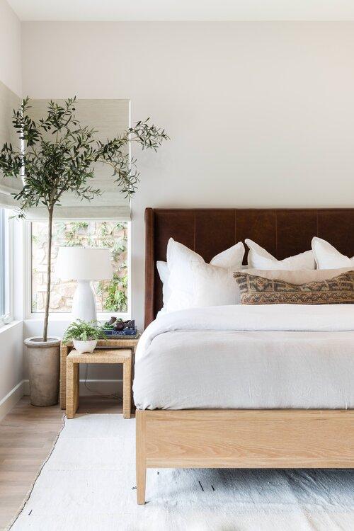 Beautiful modern bedroom with modern coastal decor