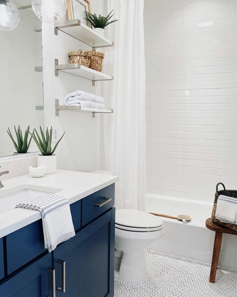 Our Guest Bathroom Remodel Before And After Jane At Home