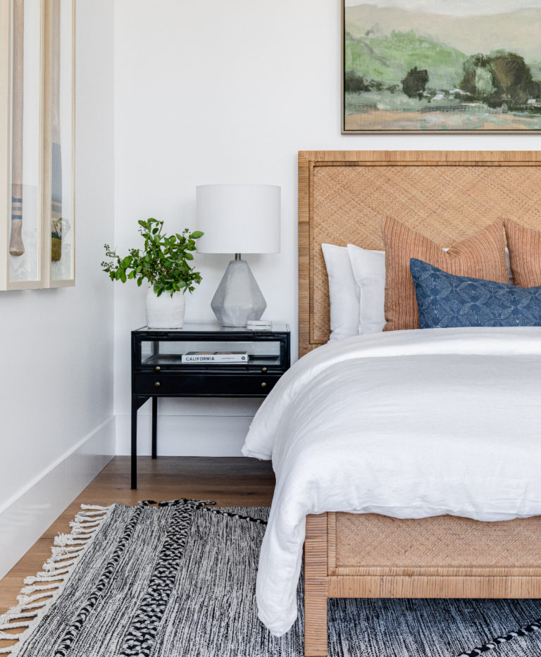 Beautiful blues and warm rich tones in the bedroom - bedroom ideas - 2021 design and decor trends - bedroom decor - Lindye Galloway Design