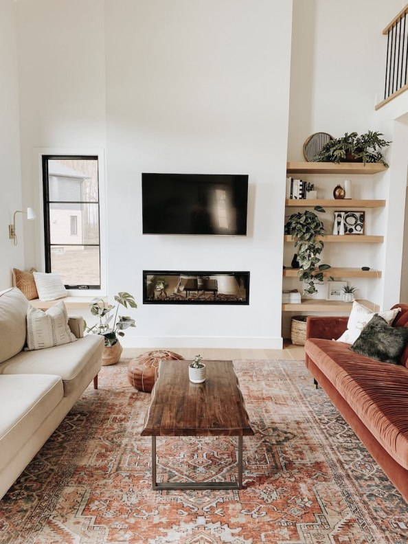 Top design and home trends for 2021: warm, rich earth tones in the living room - kassandra dekoning - living room decor - living room ideas - living room design - modern living room