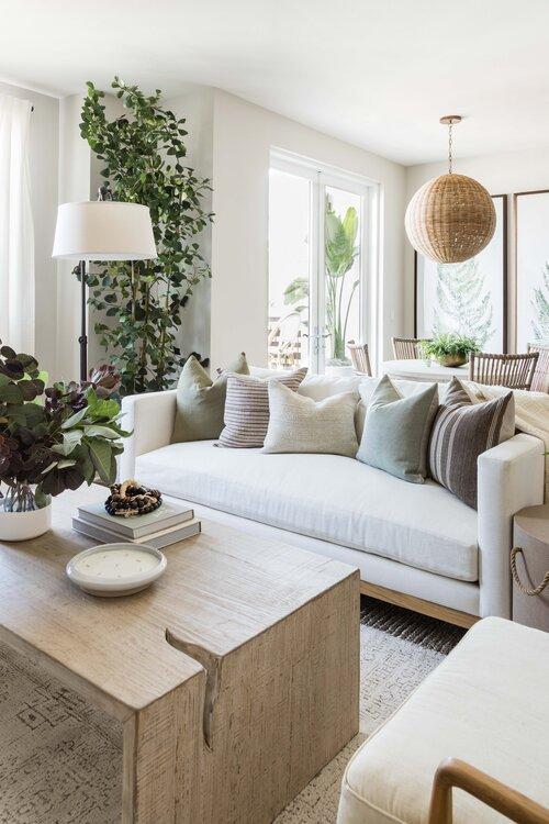 Beautiful modern coastal living room design